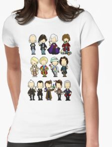 The Doctors 1-11 (plus war doc) Womens Fitted T-Shirt