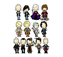 The Doctors 1-11 (plus war doc) Doctor Who Photographic Print