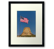 Sunrise over Devils Tower .2 Framed Print
