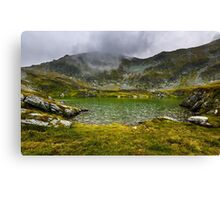 Romanian Carpathians and glacial lake Capra Canvas Print