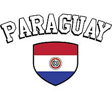 Paraguay Supporters Photographic Print