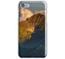 Mountain peaks at sunset iPhone Case/Skin