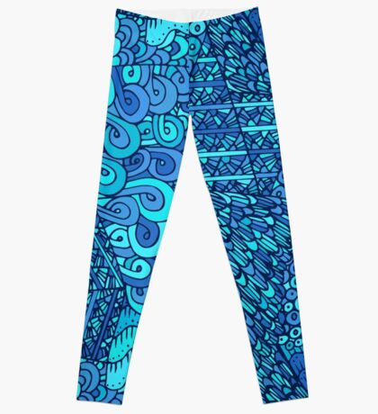 60s hippie psychedelic pattern Leggings