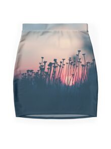 beach sunset Mini Skirt