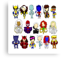 X MEN GROUP  Canvas Print