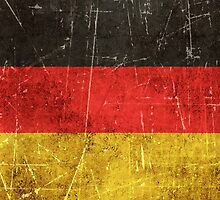 Vintage Aged and Scratched German Flag by Jeff Bartels