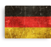 Vintage Aged and Scratched German Flag Canvas Print