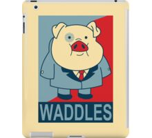"Waddles- ""Hope"" Poster Parody iPad Case/Skin"