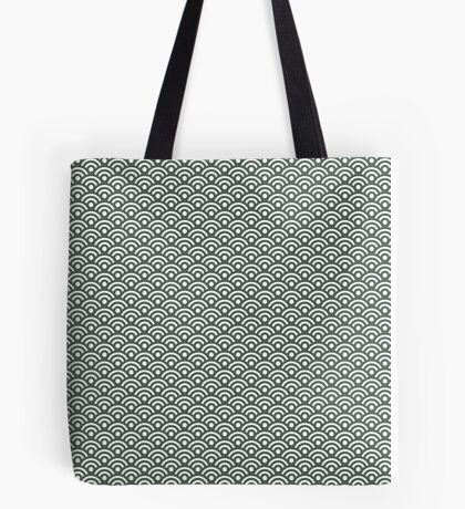 Green Seigaiha | Pattern Tote Bag