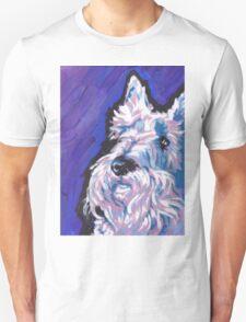 White Scottish Terrier Bright colorful pop dog art Unisex T-Shirt