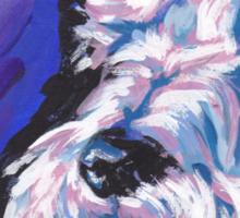 White Scottish Terrier Bright colorful pop dog art Sticker