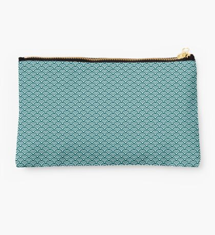 Teal Seigaiha | Japanese Pattern Studio Pouch