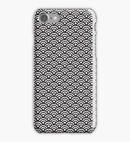 Seigaiha Black and white | Pattern iPhone Case/Skin