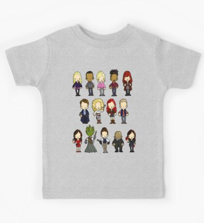 Doctors Companions and Friends V.2 Kids Tee