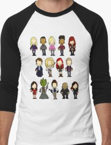 Doctors Companions and Friends V.2 Men's Baseball ¾ T-Shirt