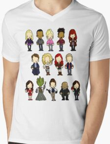 Doctors Companions and Friends V.2 Mens V-Neck T-Shirt
