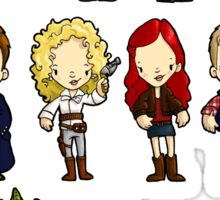 Doctors Companions and Friends V.2 Sticker
