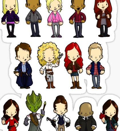 Doctors Companions and Friends V.2 Sticker