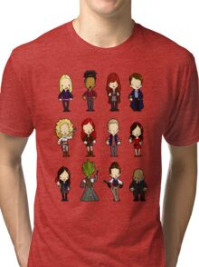 Doctors Companions and friends Tri-blend T-Shirt