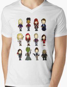 Doctors Companions and friends Mens V-Neck T-Shirt