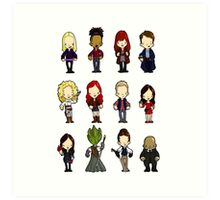Doctors Companions and friends Art Print