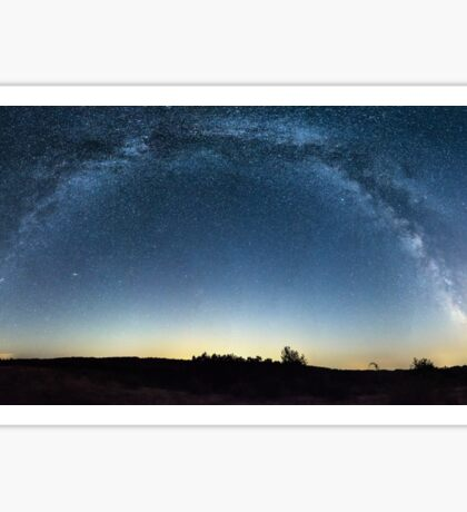 Milky Way panorama over a field Sticker