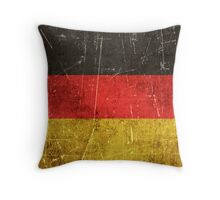 Vintage Aged and Scratched German Flag Throw Pillow