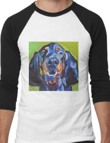 Black and Tan Coonhound Bright colorful pop dog art Men's Baseball ¾ T-Shirt