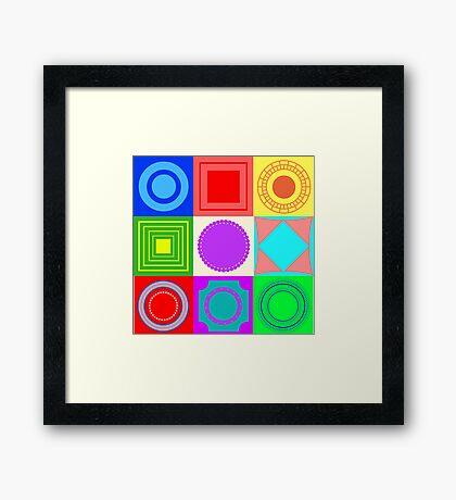 Fun shapes Framed Print