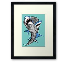 Shark Tornado Framed Print