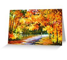 THE PATH OF SUN BEAMS - Leonid Afremov Greeting Card