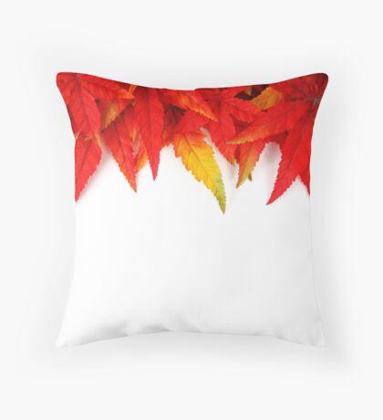 Autumn Crisp Leaves Throw Pillow