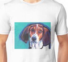 Treeing Walker Coonhound Bright colorful pop dog art Unisex T-Shirt