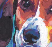 Treeing Walker Coonhound Bright colorful pop dog art Sticker