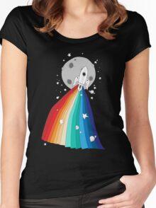 Pride Rocket T-shirt femme moulant à col profond
