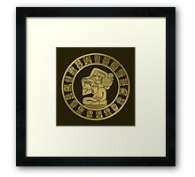 Mayan calendar in the style of boho Framed Print