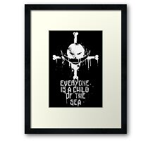 A Child of The Sea - White Framed Print
