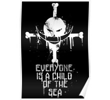 A Child of The Sea - White Poster