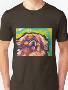 Tibetan Spaniel Bright colorful pop dog art Unisex T-Shirt