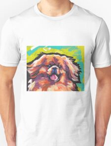 Tibetan Spaniel Bright colorful pop dog art Unisex T-Shirt