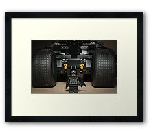 Batman Stare with Tumbler Framed Print
