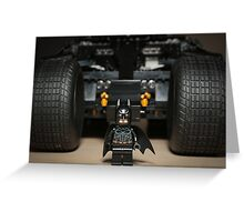 Batman Stare with Tumbler Greeting Card