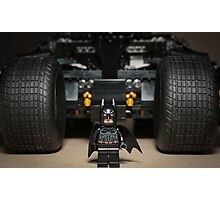 Batman Stare with Tumbler Photographic Print
