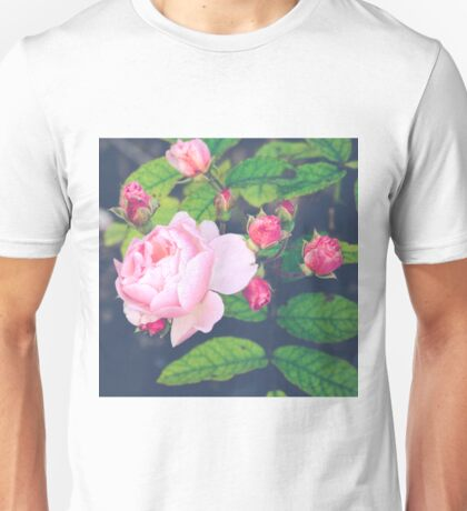 Retro Rose And Buds Unisex T-Shirt