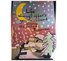 Snowy night message  Poster