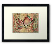 """Life in Golden Light"" from the series ""In the Lotus Land"" Framed Print"