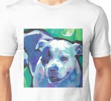 staffordshire Bull Terrier Bright colorful pop dog art Unisex T-Shirt