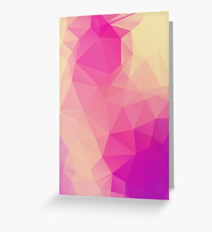 Pink Princess Background LowPoly Greeting Card