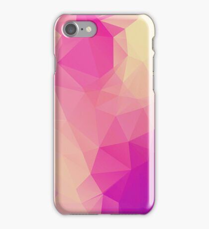Pink Princess Background LowPoly iPhone Case/Skin