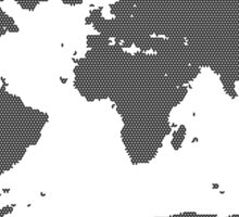 Black White Mapping Sticker